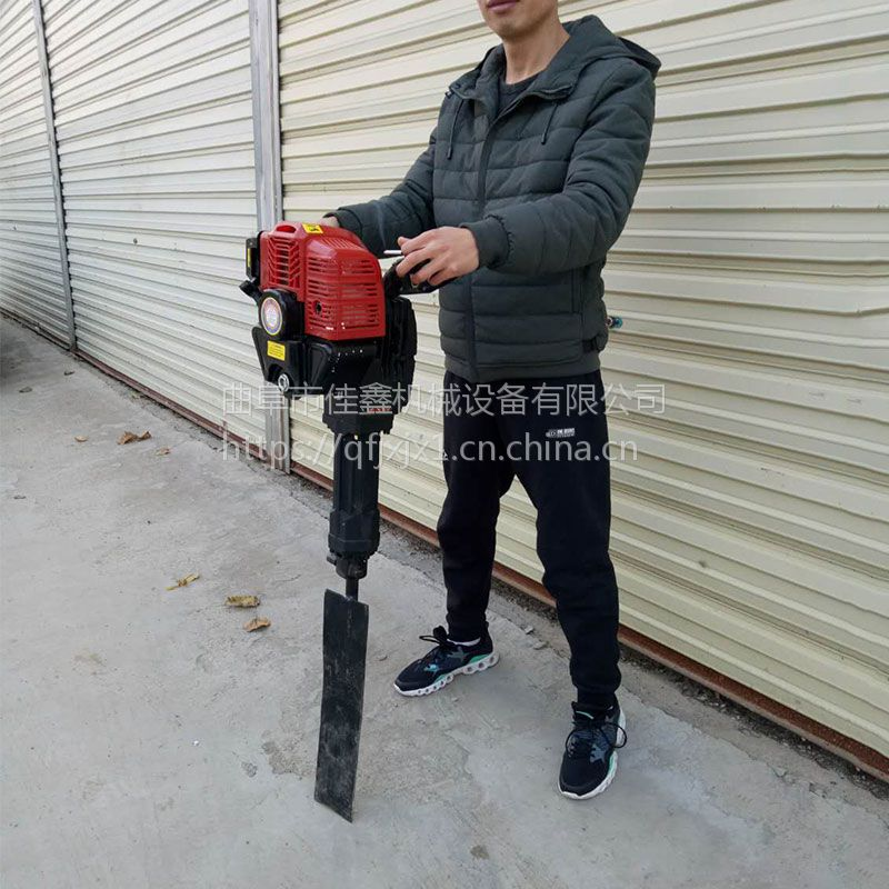 盐城市链条式刨树机厂家 佳鑫手提起树机 果园施肥移苗机