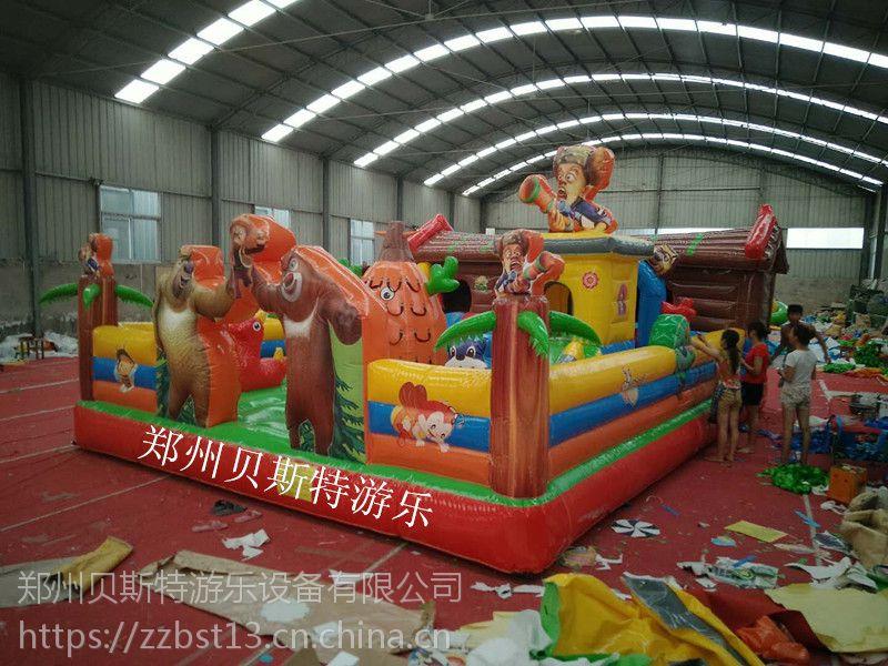 河南商丘儿童充气滑梯蹦蹦床真心好玩的厂家