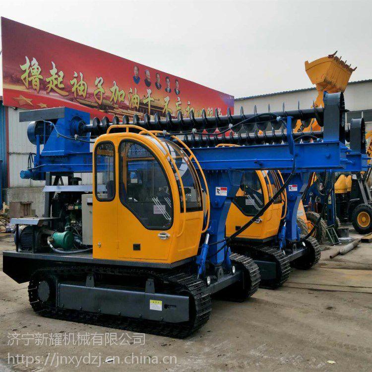 黑龙江鹤岗小型履带式光伏打桩机 电动液压工程打桩机