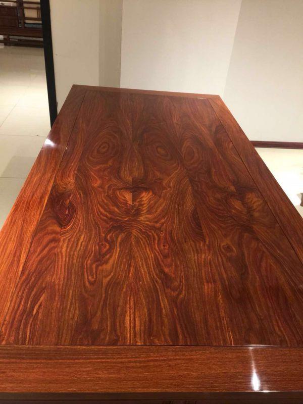 名琢世家定制酒店会所 国标红木刺猬紫檀2米办公台办公桌