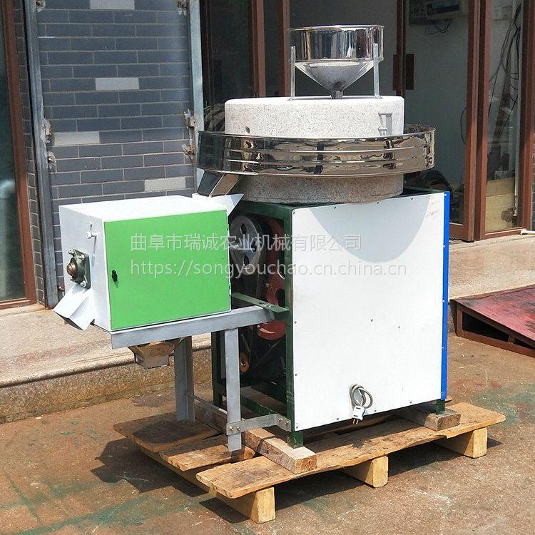 供应全自动小麦石磨面粉机 家用五谷杂粮石磨机传统多功能