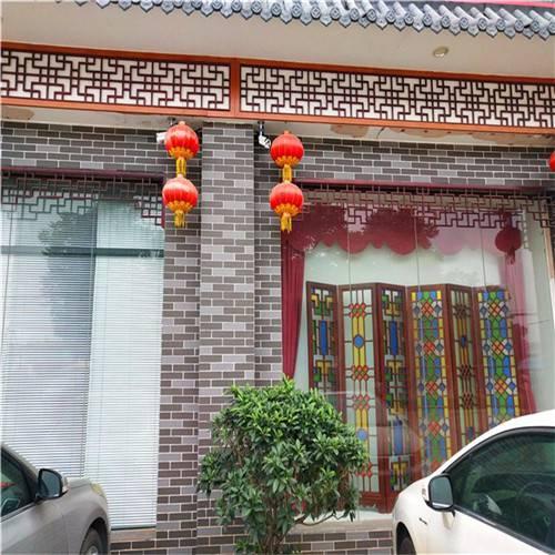中式别墅装饰仿古铝窗花 酒店隔断装饰木纹铝窗花