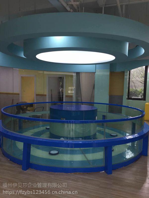 新款组装钢化玻璃圆形环流池