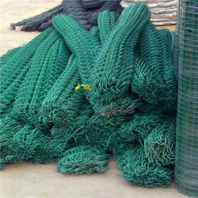 厂家直销PE包塑勾花围网,运动场围栏框架包塑勾花网