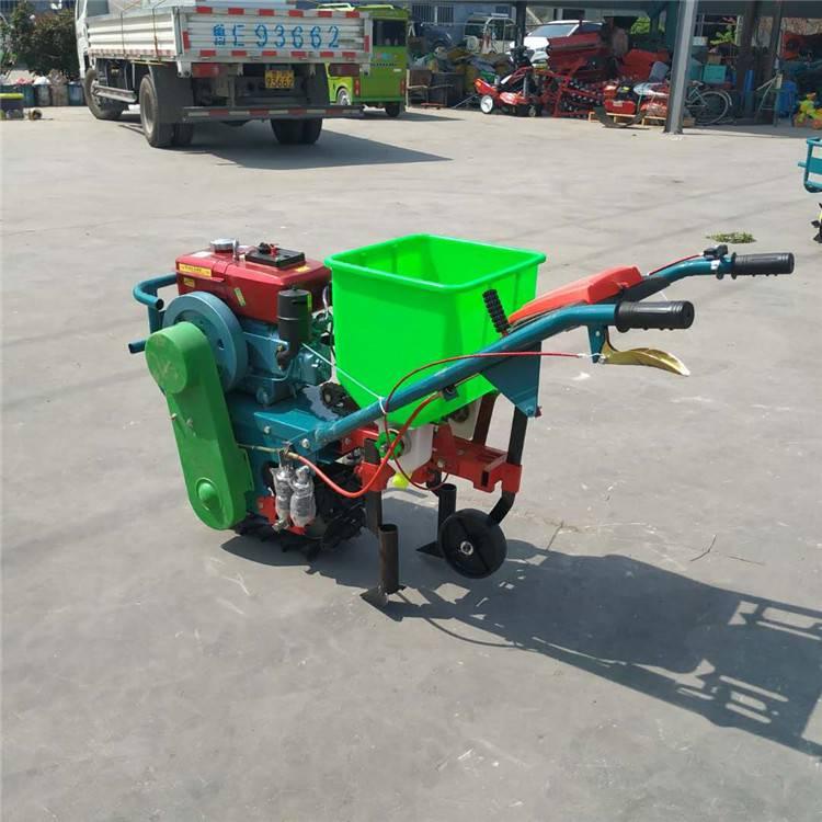 吉林玉米施肥机 自走式苞谷种植机 大马力汽油播种机
