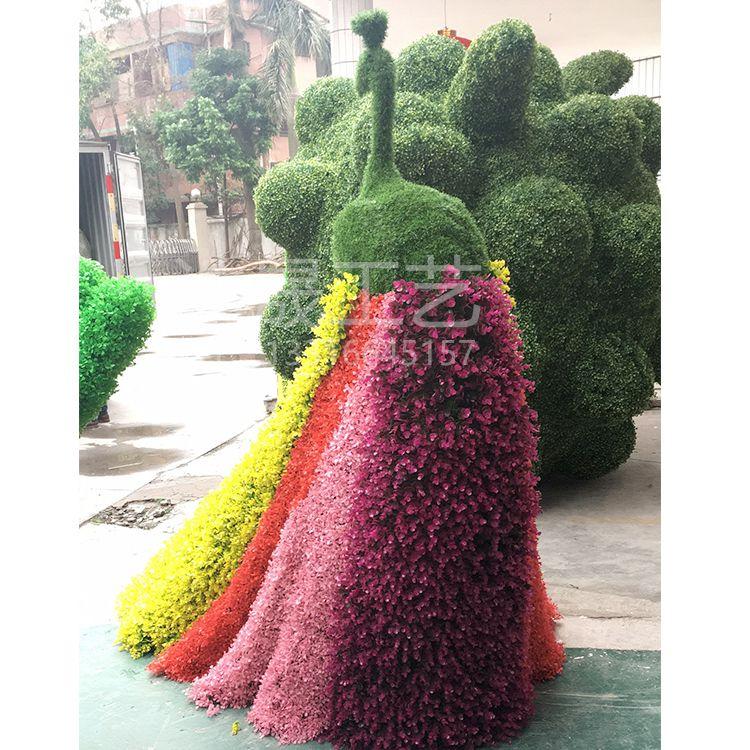 浩晟仿真动物绿雕 唯美孔雀绿雕 专业制作各种唯美新颖造型