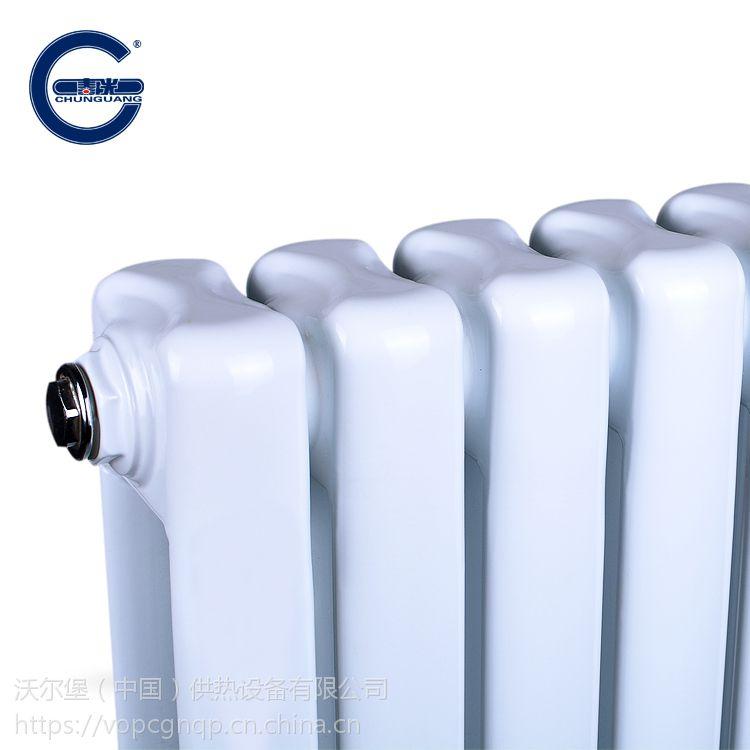 钢制柱形散热器 春光牌 钢2柱暖气片 5025 中心距600