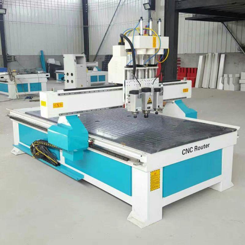 1325板式数控橱柜双工位开料中小型企业的打孔排钻封边木工雕刻机