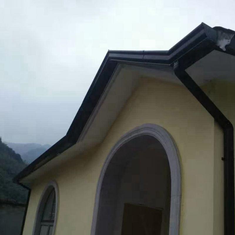 杭州外墙落水管灰色排水管金属金属落水系统