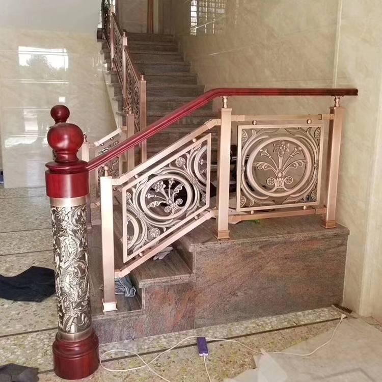 电镀K金会所欧式艺术扶手护栏高档雕花护栏厂家