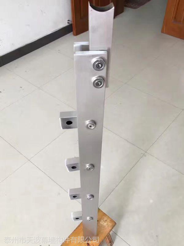 江苏常州天波幕墙厂家直销304不锈钢穿管子立柱 可定制