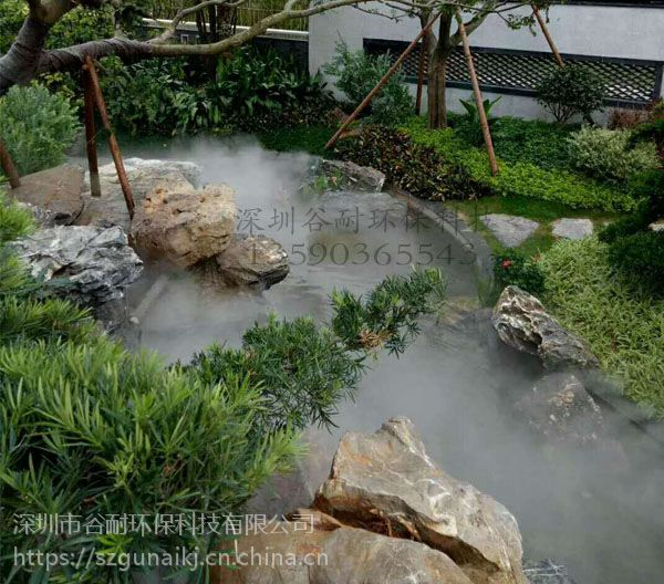 影视基地园林景观喷雾造景 喷雾加湿设备价格低 案例(深圳|广州|东莞|佛山|中山|珠海)
