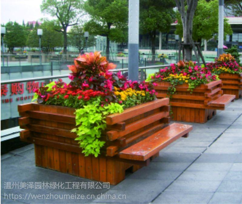 厂家直销 木材纹理通直 防腐木景观专业设计师量身定制 温州美泽园林绿化工程有限公司