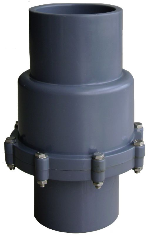 横装止回阀二通止回阀弹簧止回阀upvc全塑管道配件管件定做厂家批图片
