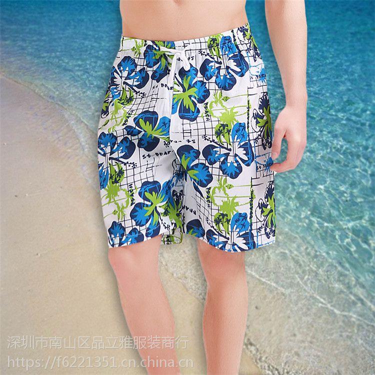 2018男式沙滩裤 速干夏季海边休闲短裤 时尚五分裤冲浪裤批发直销