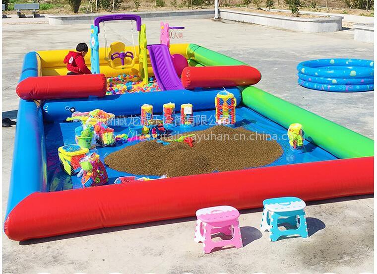 秋季商场室内钓鱼池 海洋球搭配的套餐池子特惠 两层的摆摊娱乐分体沙滩池