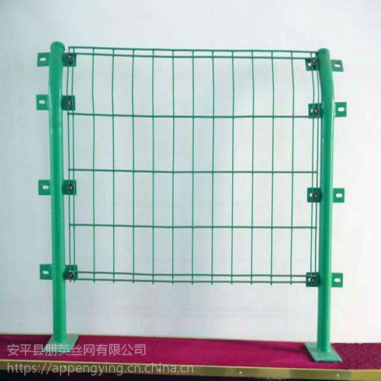 朋英 生产销售 小区护栏网 绿色浸塑双边丝铁丝护栏网
