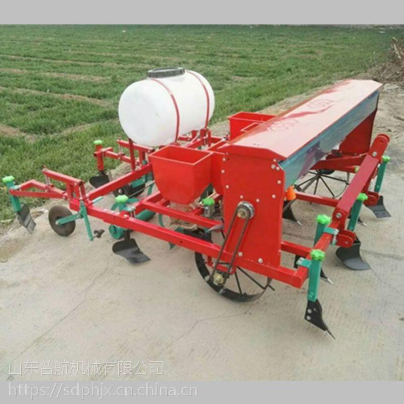 普航红薯土豆覆膜机 多功能花生播种施肥覆膜喷药一体机 花生精播机哪里有卖的