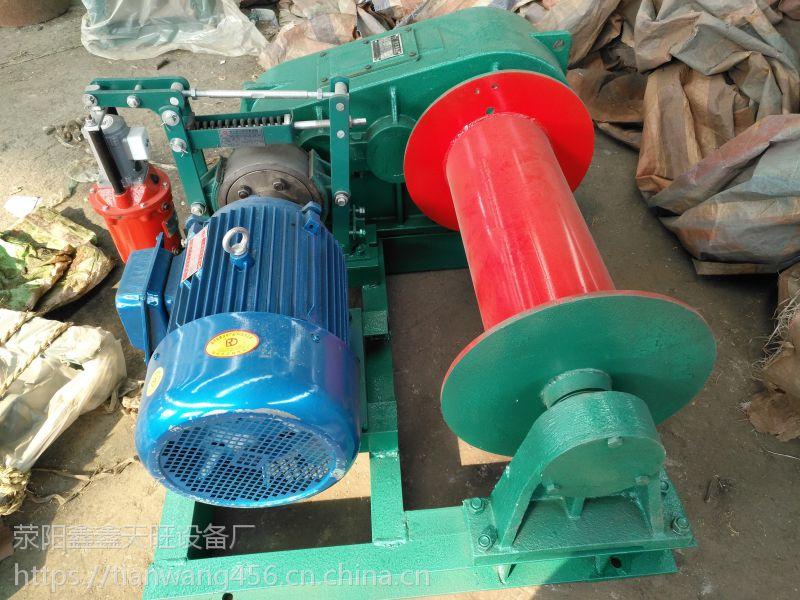 原平天旺两吨拉力快速小型卷扬机电动制动