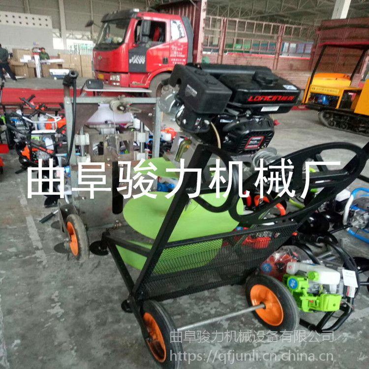 新款农用斜挎式割草机 小型背负农用汽油打草机 骏力牌 小型割草机
