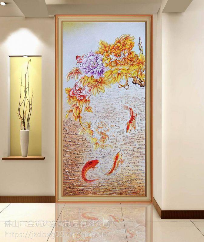 佛山高端定制不锈钢屏风 镶嵌艺术玻璃不锈钢屏风 隔断