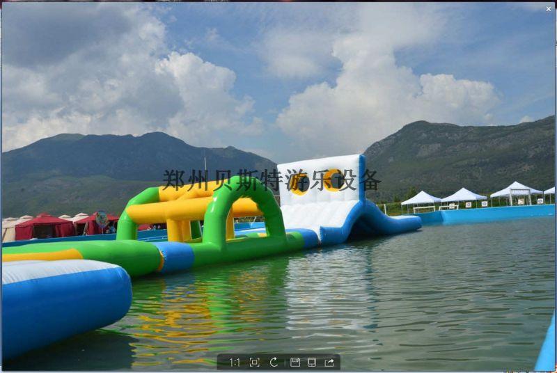 河南省大型小型移动支架水池水乐园滑梯