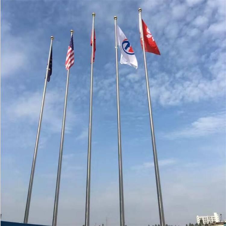 耀恒 大量供应 手动白色旗杆 电动锥形国旗杆 304不锈钢锥形旗杆