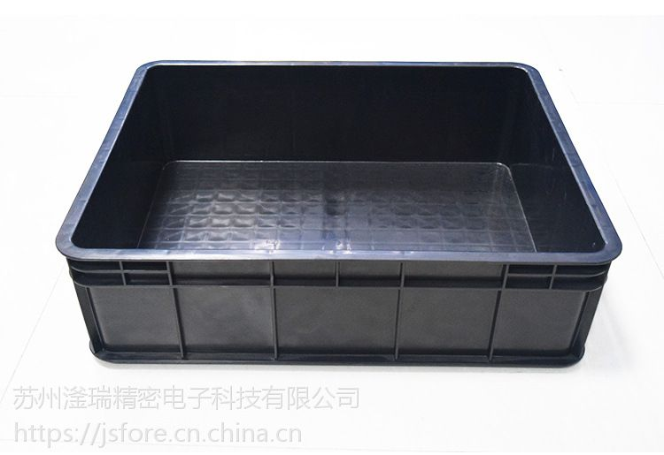 苏州滏瑞厂家直销黑色防静电周转箱 外600-500-160