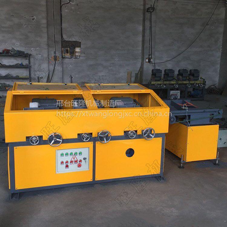 旺隆三工位圆管抛光机WL-3组全自动上下料机插电式电源380V抛光机
