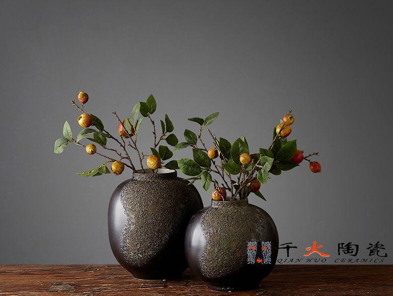 景德镇陶瓷花瓶 酒店装饰花瓶  现代装饰瓷专业定制厂家批发