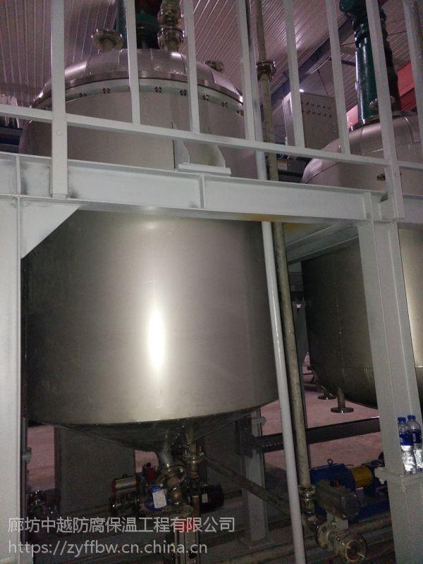 廊坊中越防腐保温有限公司供应;天津管道设备罐体保温安装,反应釜罐体保温施工队。
