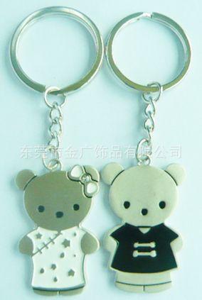 工艺品,礼品 钥匙配饰 其他钥匙配饰 两小无猜情侣钥匙扣 心形情侣图片