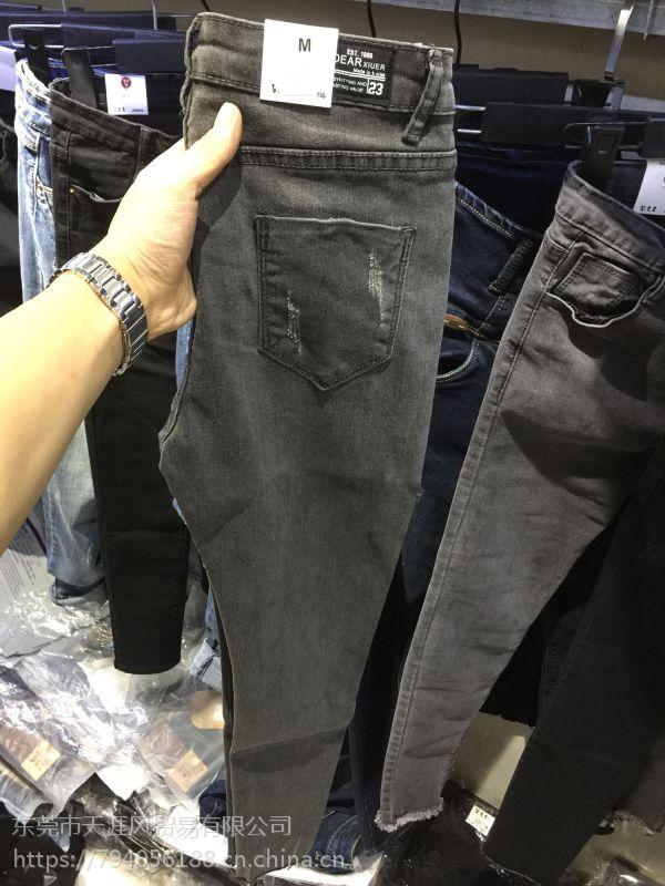 便宜尾货牛仔裤弹力牛仔裤清货几块钱女士小脚裤清货5-10元