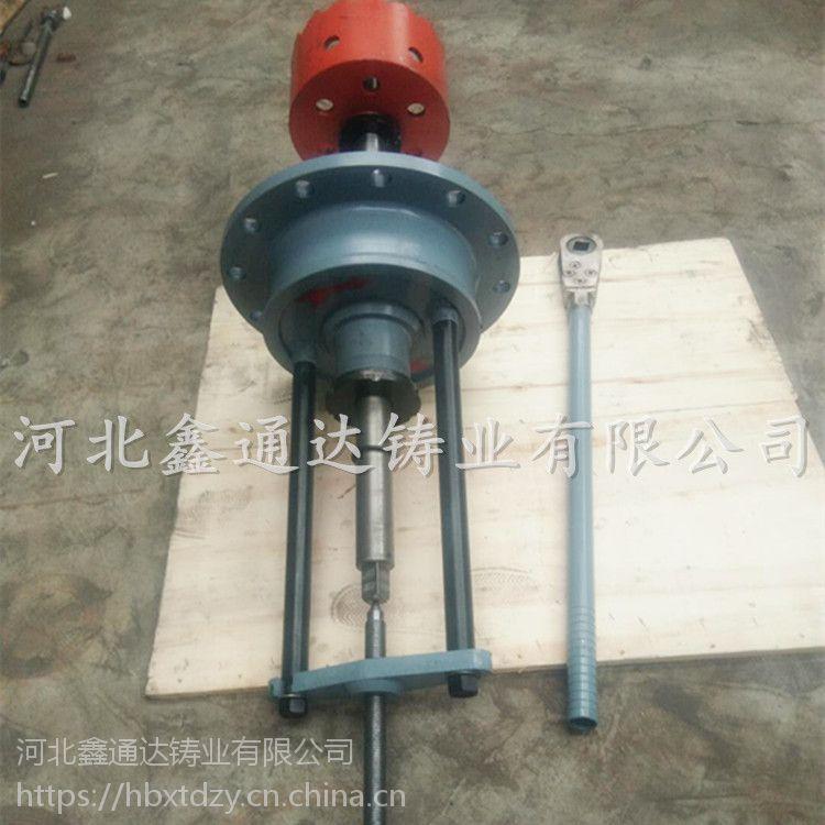 河北鑫通达供应自来水管道钻眼用手动带压打孔机 DN250型号手动开孔器