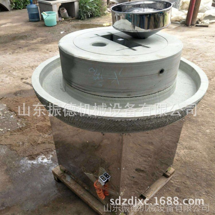 耐用多功能豆浆石磨机 原汁原味豆浆石磨 振德直销 绿色豆浆石磨
