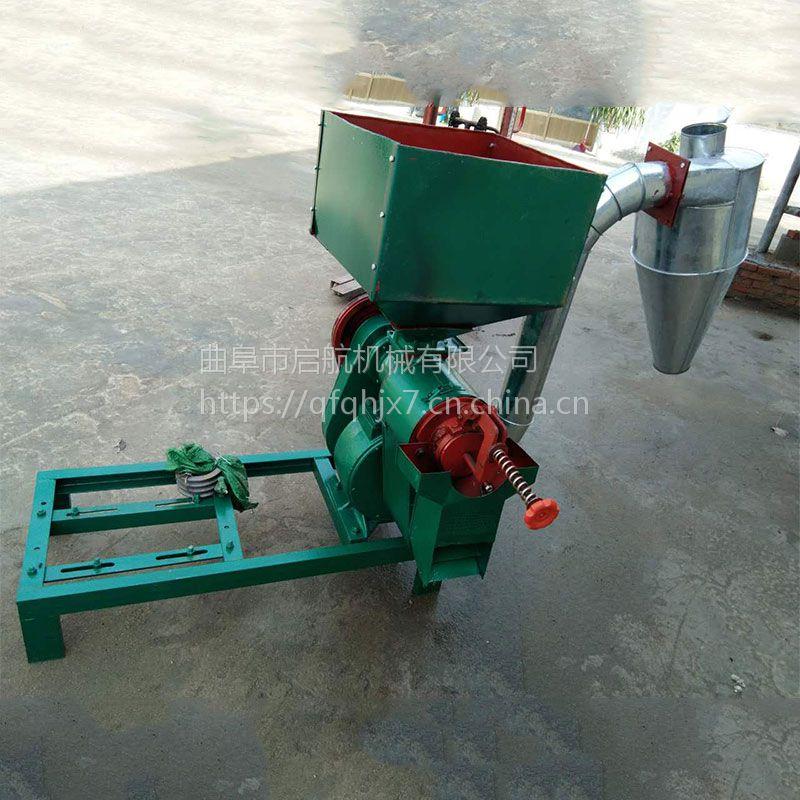 大豆脱皮机价格 启航谷子去皮碾米机 小型打米机效果好