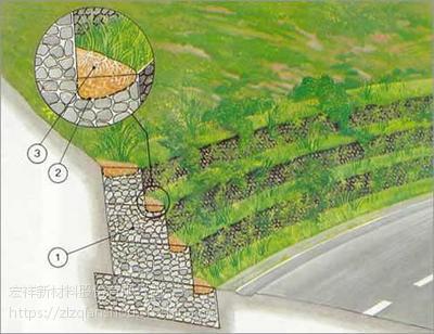 堤坝护岸、公路护坡、生态绿化等各大工程中的功臣--宏祥石笼网