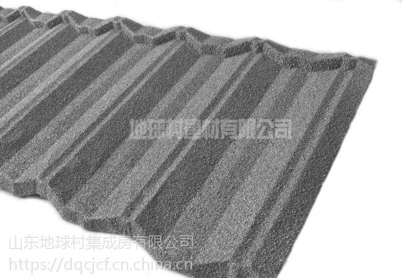 山东八波型彩石金属瓦 斜边瓦耐用50年欢迎订购