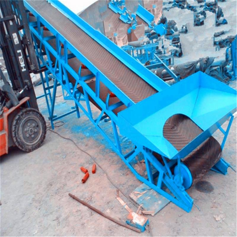 六九重工定制倾斜式搬运装卸皮带机 加格挡皮带输送机