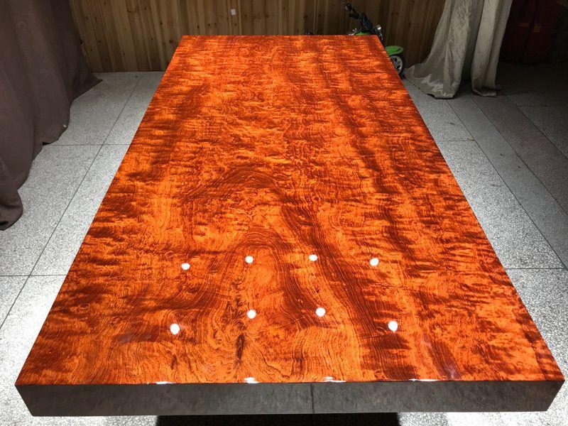 巴花大板厂家,成安县哥德温工厂销售现货库存储备超过5000片的简约现代巴花大板厂家