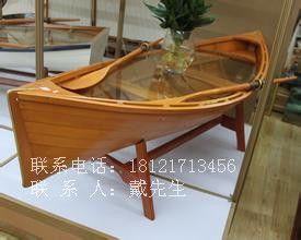 【楚风木船】批发创意家居船 客厅茶几船 木船装饰船 小区绿化带景观船