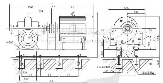 上海凯泉KQSN400卧式单级双吸离心泵配件