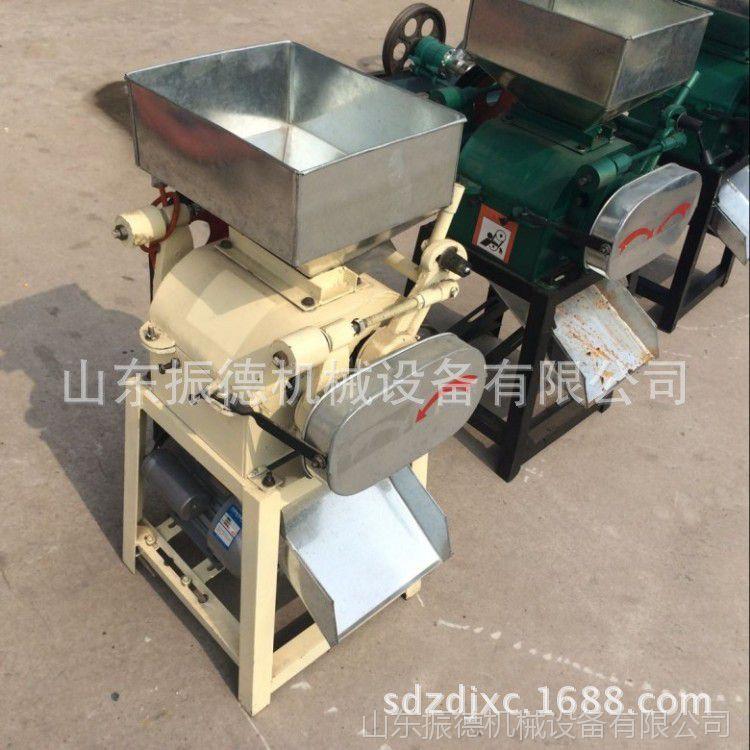 小型黄豆挤扁机 家用型燕麦挤扁机 振德直销  粮食破碎挤扁机