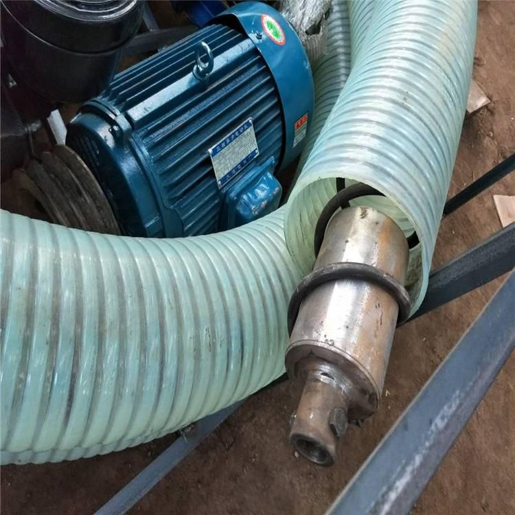 大米收购用14管径的软管吸粮机 方便移动的柴油吸粮机润众