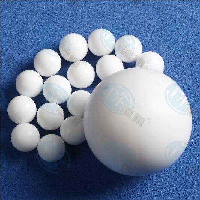 【百年德氟】DF 厂家加工塑料王泵配件 PTFE球 纯四氟圆球、小球