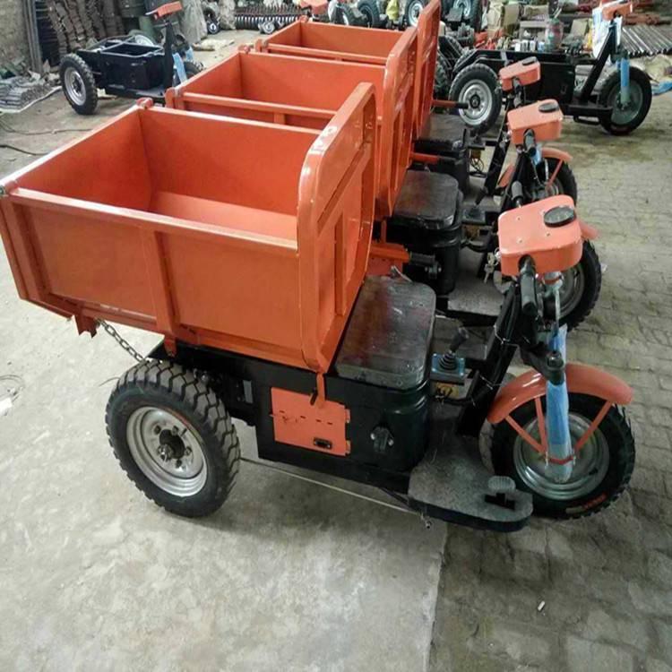 九州混凝土沙土运输电动三轮车 三开门自卸工地运输车 18马力三轮车