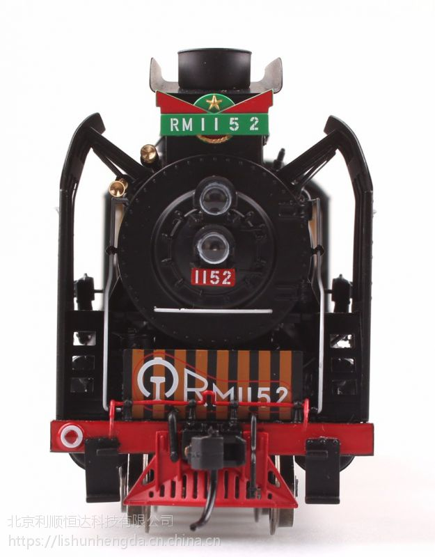 火车模型 百万城火车模型人民型蒸汽机车1152 西局西段