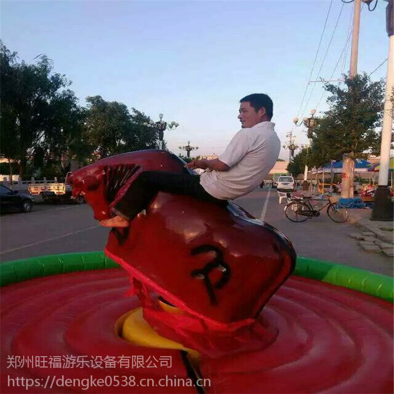 福州客户儿童欢乐斗牛机游艺机郑州旺福游乐现货供应西班牙疯狂刺激斗牛机