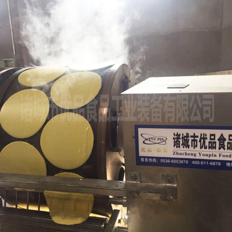优品加工定制烤鸭饼皮机 河南春卷皮机 免费安装调试
