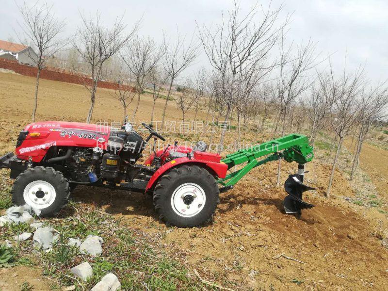 拖拉机挖坑机 栽水泥杆子用挖坑机